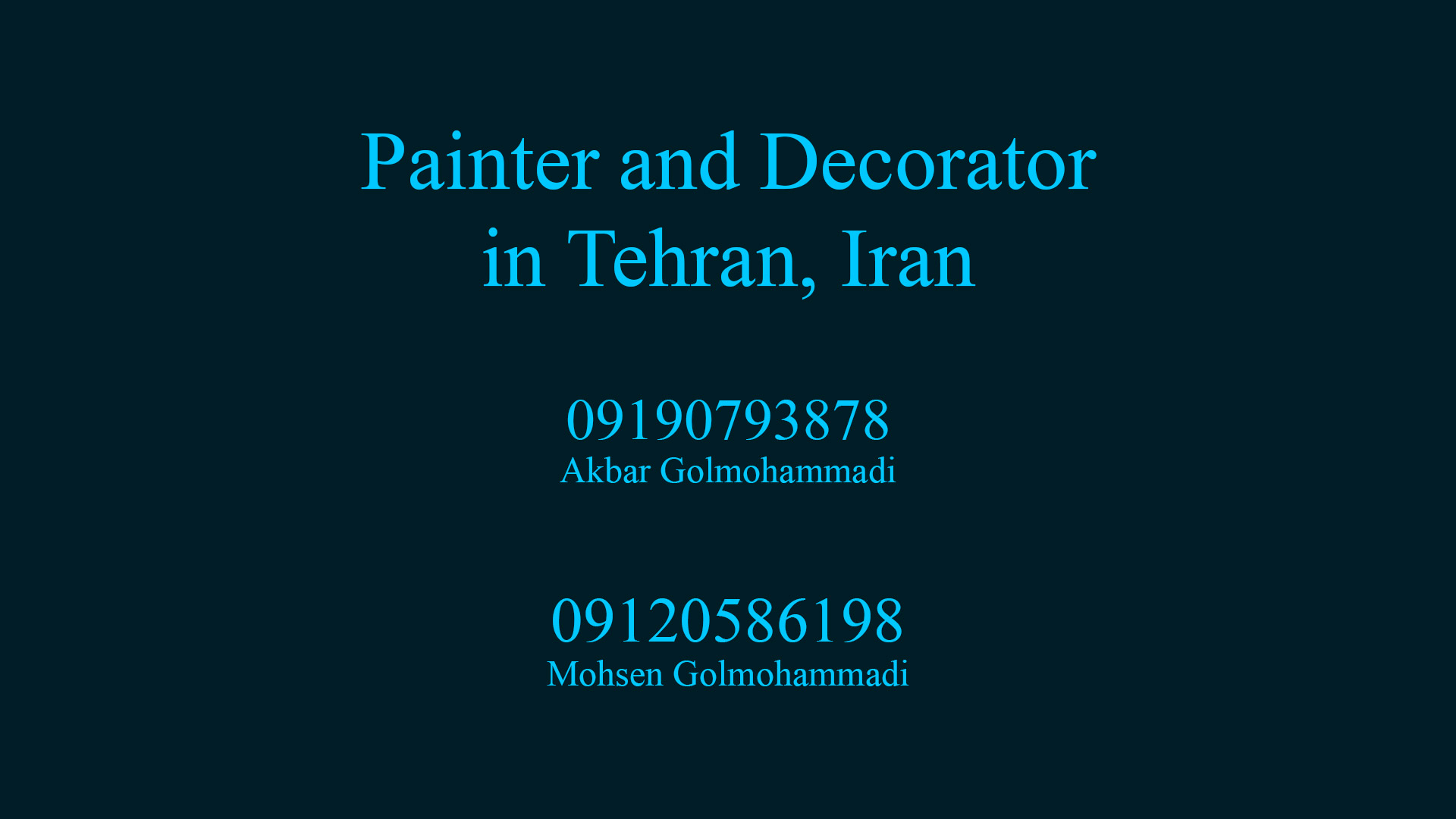 Painter and Decorator in tehran iran