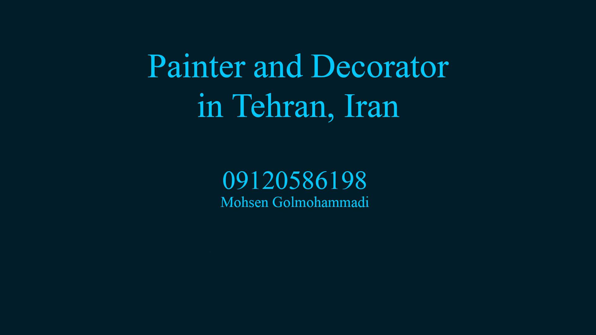 Painter and Decorator in tehran iran