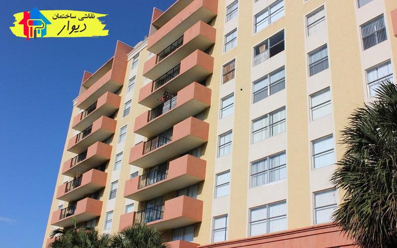 نقاشی ساختمان با رنگ کنیتکس