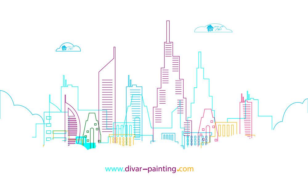 ترکیب رنگ نقاشی ساختمان